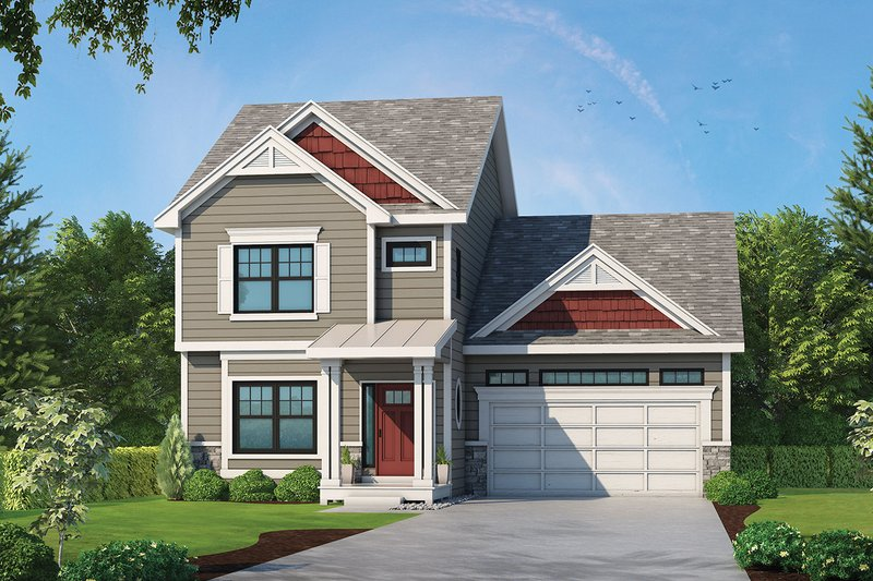 Dream House Plan - Traditional Exterior - Front Elevation Plan #20-2340