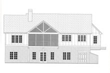 Architectural House Design - Farmhouse Exterior - Rear Elevation Plan #437-129