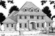 Home Plan Design - Southern Exterior - Front Elevation Plan #20-195