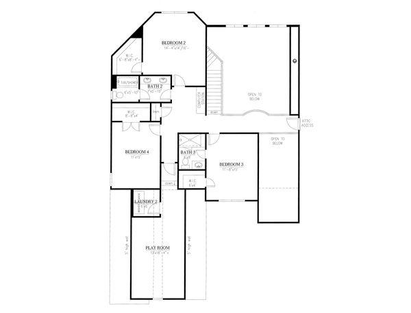 Traditional Floor Plan - Upper Floor Plan Plan #437-86