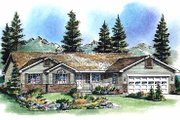 Ranch Style House Plan - 3 Beds 2 Baths 1538 Sq/Ft Plan #18-193 Exterior - Front Elevation