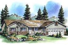 House Blueprint - Ranch Exterior - Front Elevation Plan #18-193