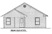 Cottage Style House Plan - 2 Beds 1 Baths 856 Sq/Ft Plan #14-239 Exterior - Rear Elevation