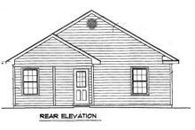 Cottage Exterior - Rear Elevation Plan #14-239