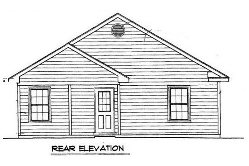 Cottage Exterior - Rear Elevation Plan #14-239 - Houseplans.com