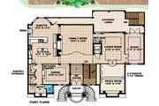 Mediterranean Style House Plan - 3 Beds 5 Baths 5566 Sq/Ft Plan #27-396 Floor Plan - Main Floor Plan