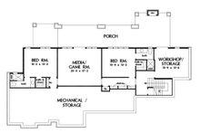Craftsman Floor Plan - Lower Floor Plan Plan #929-1072