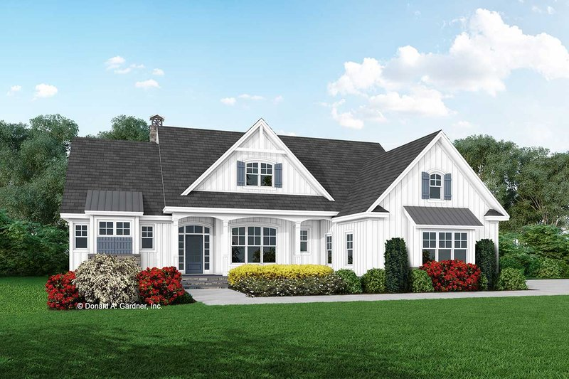 Farmhouse Style House Plan - 3 Beds 2 Baths 1995 Sq/Ft Plan #929-1114