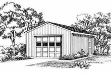 Traditional Exterior - Front Elevation Plan #72-243