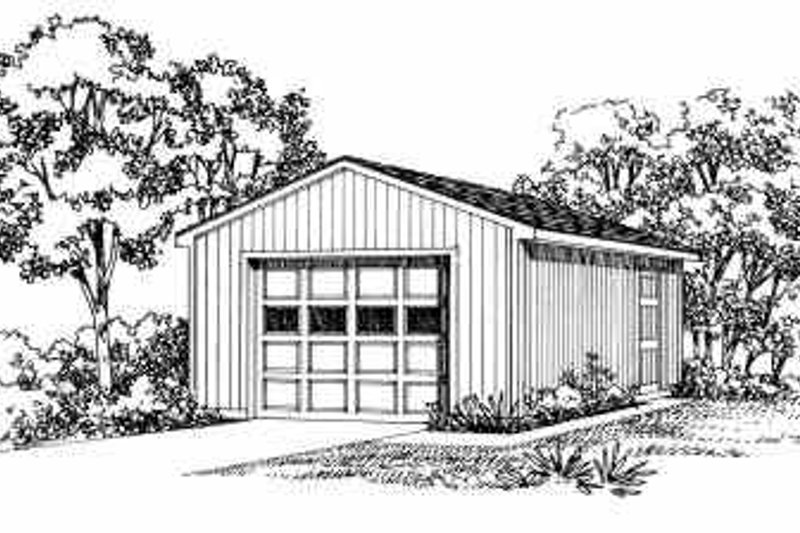 House Blueprint - Traditional Exterior - Front Elevation Plan #72-243