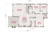 European Style House Plan - 4 Beds 3 Baths 3174 Sq/Ft Plan #461-58 Floor Plan - Main Floor
