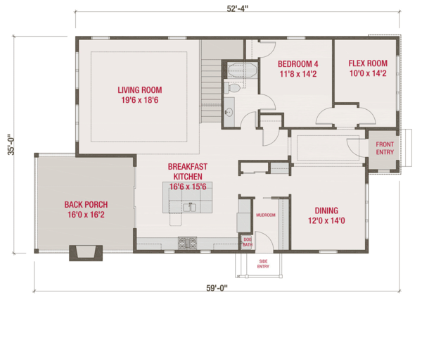 European Floor Plan - Main Floor Plan #461-58