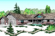 Ranch Style House Plan - 4 Beds 3 Baths 2356 Sq/Ft Plan #60-209 Exterior - Front Elevation