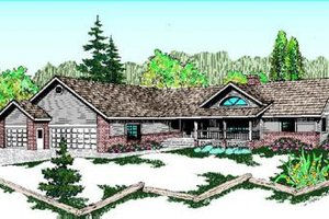 Ranch Exterior - Front Elevation Plan #60-209