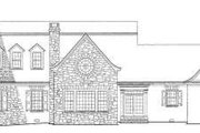 Colonial Style House Plan - 4 Beds 5.5 Baths 4299 Sq/Ft Plan #137-219 Exterior - Rear Elevation