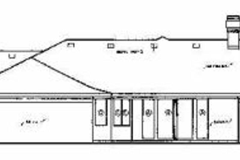Ranch Exterior - Rear Elevation Plan #45-194 - Houseplans.com