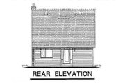 Country Style House Plan - 3 Beds 2 Baths 1152 Sq/Ft Plan #18-2001 Exterior - Rear Elevation
