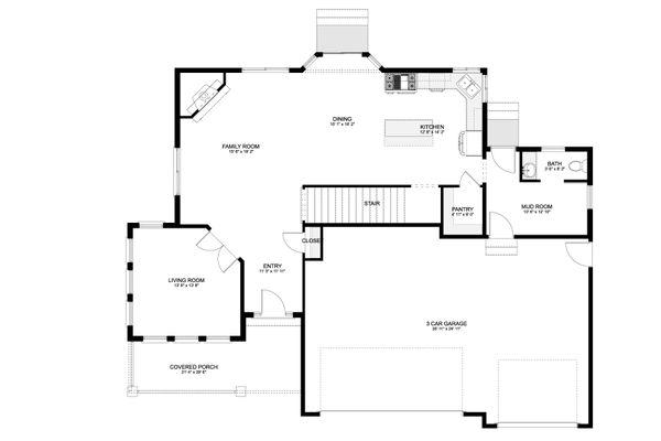 Craftsman Floor Plan - Main Floor Plan #1060-65