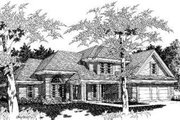 Traditional Style House Plan - 5 Beds 3 Baths 2413 Sq/Ft Plan #329-127 Exterior - Front Elevation