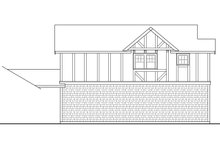 European Exterior - Rear Elevation Plan #124-1037