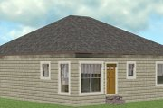 Cottage Style House Plan - 2 Beds 2 Baths 1073 Sq/Ft Plan #44-178 Exterior - Rear Elevation