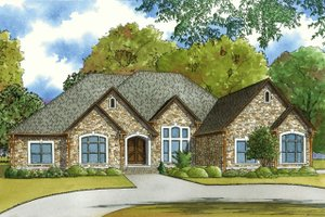 European Exterior - Front Elevation Plan #923-58