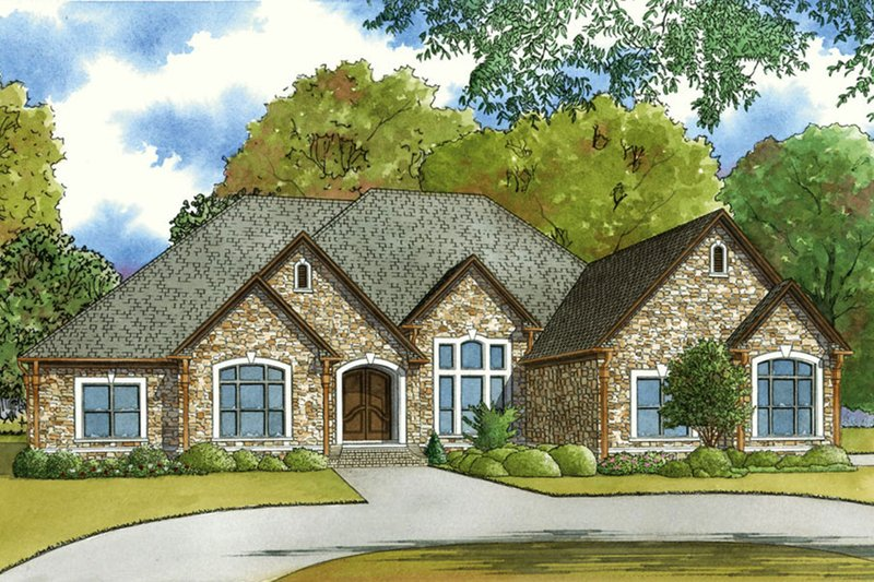 House Plan Design - European Exterior - Front Elevation Plan #923-58