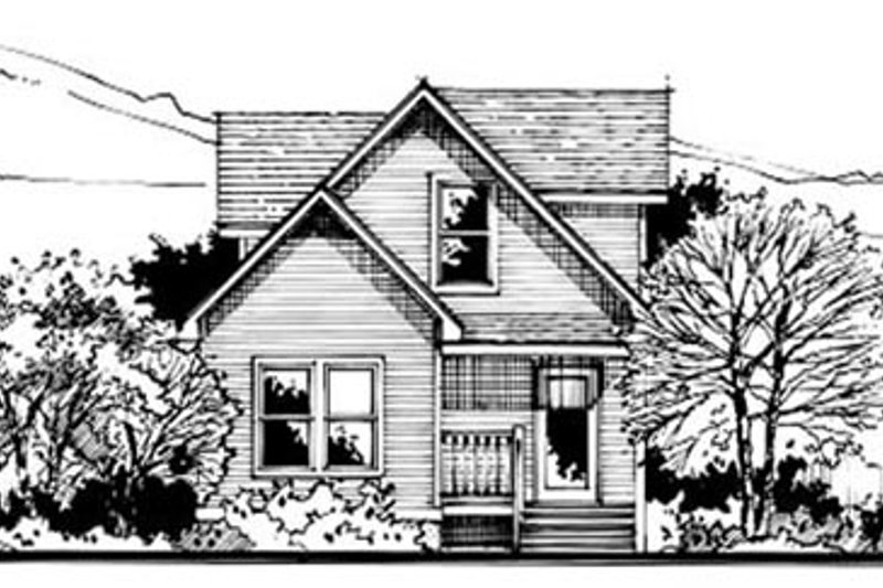 Country Style House Plan - 3 Beds 2 Baths 1085 Sq/Ft Plan #50-234 Exterior - Front Elevation