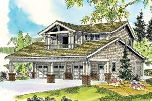Dream House Plan - Bungalow style, front elevation