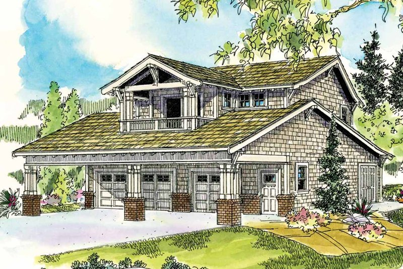 Bungalow Style House Plan - 1 Beds 2 Baths 1999 Sq/Ft Plan #124-802