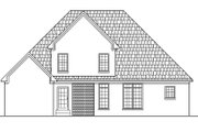 Southern Style House Plan - 4 Beds 3 Baths 2796 Sq/Ft Plan #412-126 Exterior - Rear Elevation