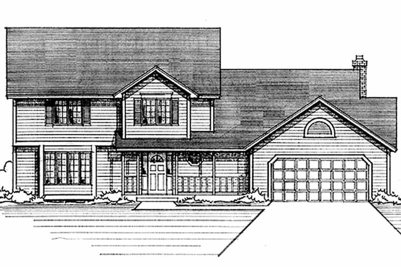 Country Exterior - Front Elevation Plan #51-860 - Houseplans.com