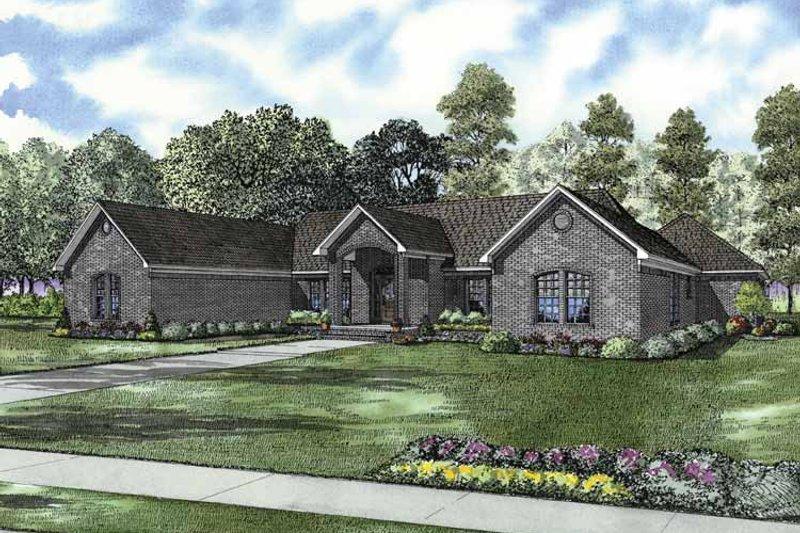 Contemporary Exterior - Front Elevation Plan #17-2843 - Houseplans.com