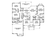 Craftsman Style House Plan - 3 Beds 2.5 Baths 2233 Sq/Ft Plan #314-271 Floor Plan - Main Floor Plan
