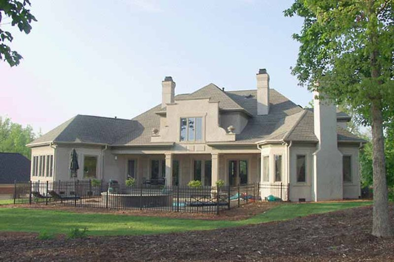 Country Exterior - Rear Elevation Plan #453-197 - Houseplans.com