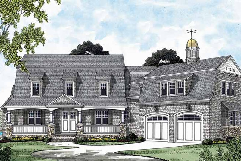 Dream House Plan - Country Exterior - Front Elevation Plan #453-575