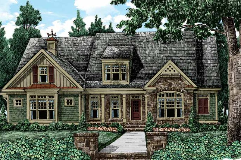 Colonial Exterior - Front Elevation Plan #927-410