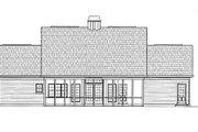 European Style House Plan - 3 Beds 3 Baths 2594 Sq/Ft Plan #119-151 Exterior - Rear Elevation