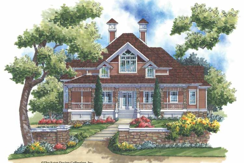 Victorian Exterior - Front Elevation Plan #930-171