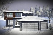 Modern Style House Plan - 4 Beds 2.5 Baths 2321 Sq/Ft Plan #70-1466 Exterior - Front Elevation