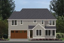 Tudor Exterior - Rear Elevation Plan #48-872