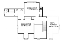 Colonial Floor Plan - Upper Floor Plan Plan #991-26