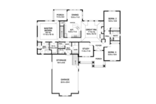 Craftsman Floor Plan - Main Floor Plan Plan #1010-51