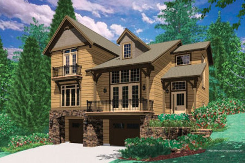Traditional Style House Plan - 3 Beds 2.5 Baths 2272 Sq/Ft Plan #48-378 Exterior - Front Elevation