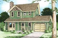 House Design - Colonial Exterior - Front Elevation Plan #126-116