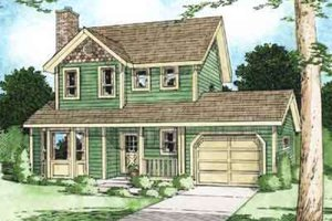 Architectural House Design - Colonial Exterior - Front Elevation Plan #126-116