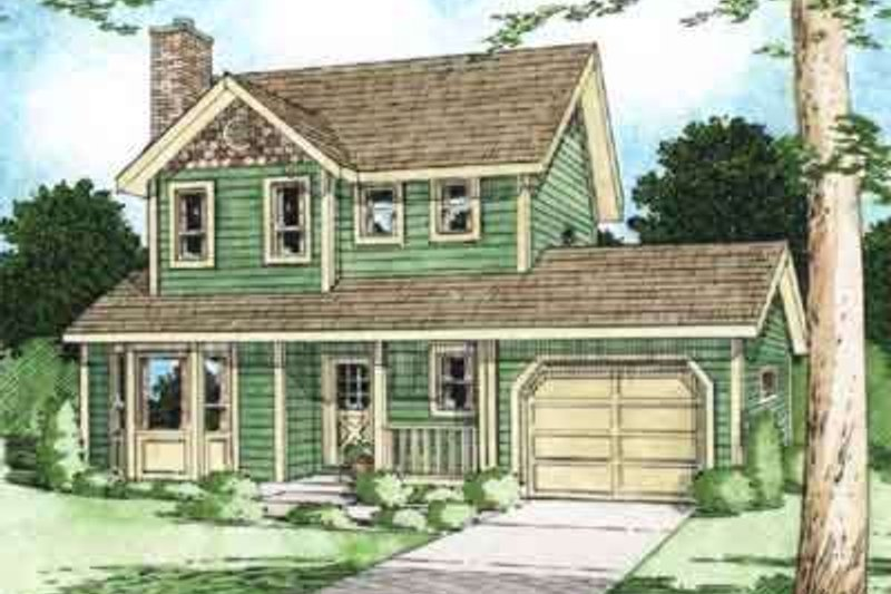 Home Plan - Colonial Exterior - Front Elevation Plan #126-116