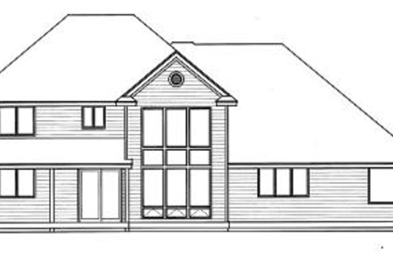 Farmhouse Exterior - Rear Elevation Plan #100-218 - Houseplans.com