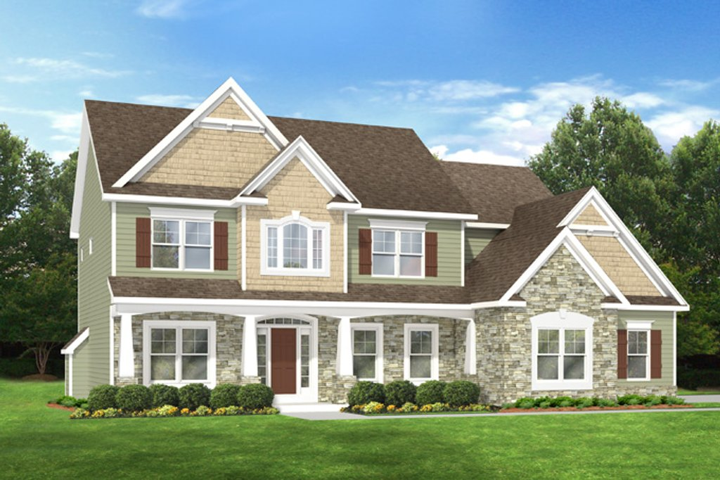 Country Exterior Front Elevation Plan 1010 91