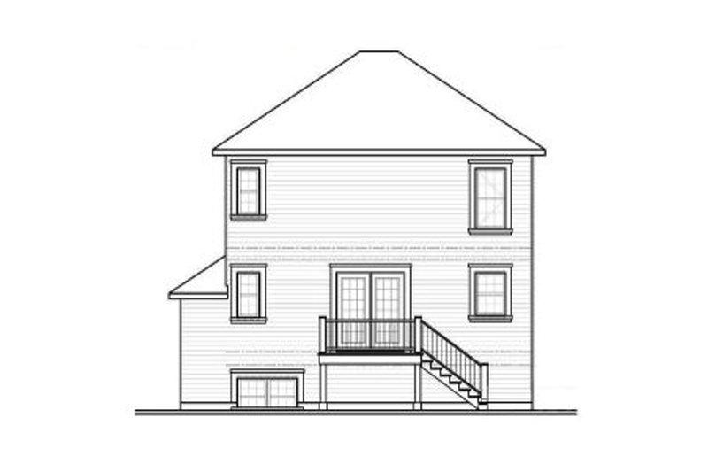 Country Exterior - Rear Elevation Plan #23-2193 - Houseplans.com